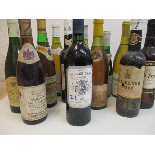 101 - Thirteen mixed bottles to include Pomerol & Sherry...