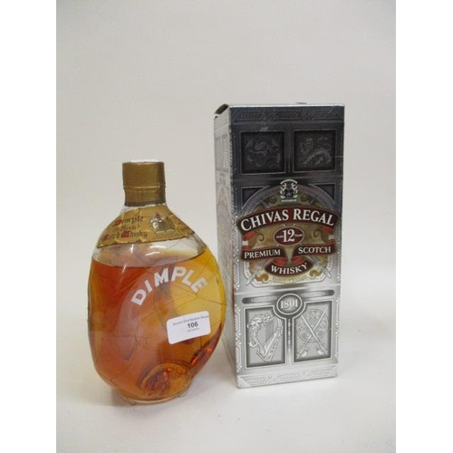 106 - A bottle of Dimple Haig whisky and a bottle of Chivas Regal whisky...