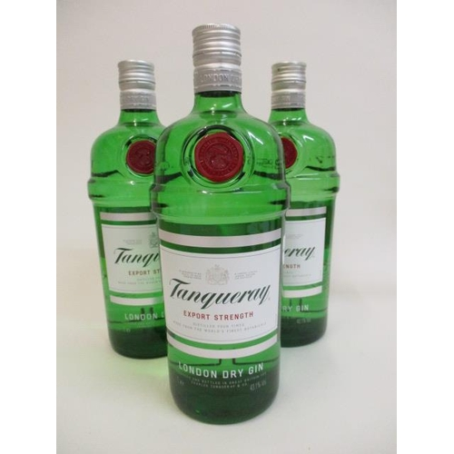 15 - Three bottles of Tanqueray Dry Gin, 31 Lt...