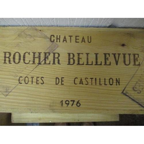 38 - Twelve bottles of Chateau Rocher Bellevue Cotes De Castillon 1976, A/F...