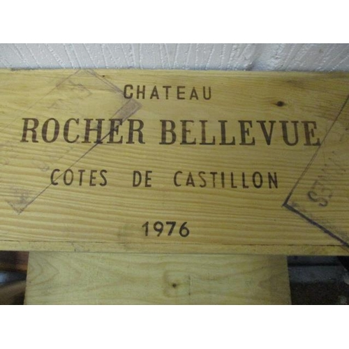 39 - Twelve bottles of Chateau Rocher Bellevue Cotes De Castillon 1976, A/F...
