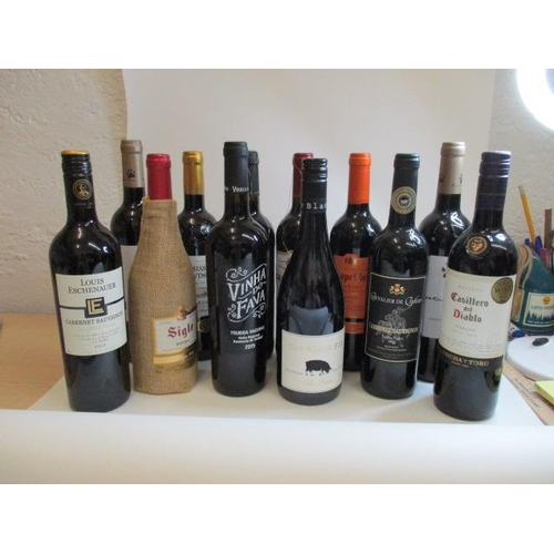 4 - Twelve mixed bottles to include Rioja and Merlot...
