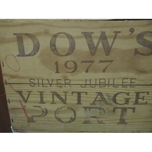 44 - A wooden case containing 1977 Silver Jubilee Dow's Vintage Port, 12 bottles...