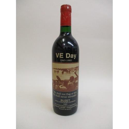 46 - A bottle of 1993 Buzet celebrating VE Day 1945-1995...