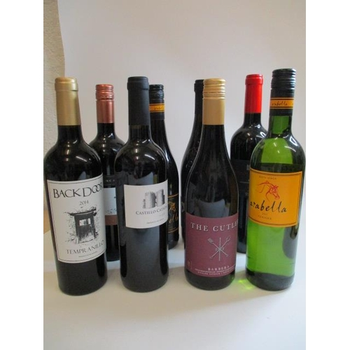 5 - Eight mixed bottles to include Shiraz and Malbec...