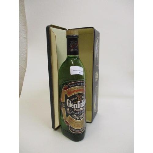 6 - A single bottle of Glenfiddich Pure Malt Whisky, 750ml...