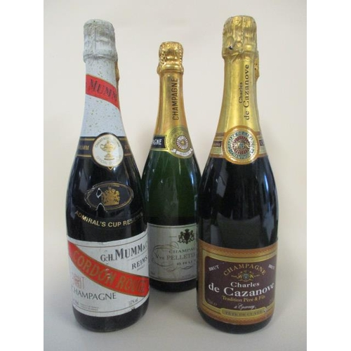 116 - Five bottles of Champagne to include G H Mumm & Co...