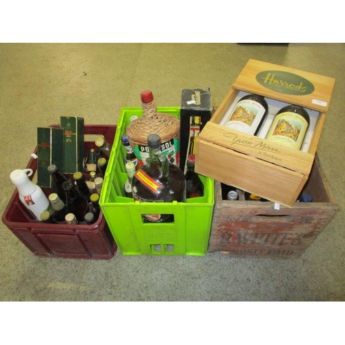 119 - A selection of mixed wines and beers to include 1984 and 85 Chateau Ducia and Royal Celebration ale...