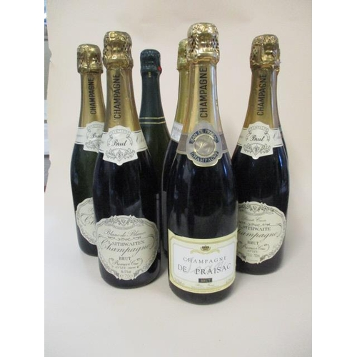 124 - Eight bottles to include Lanson, 75cl...