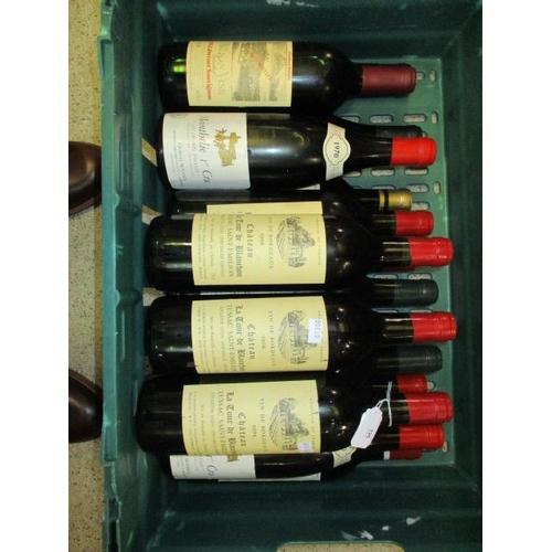 126 - Sixteen miscellaneous bottles to include Lussac Saint Emilion 1974...