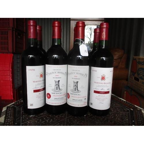127 - Four bottles of Martinex Bujanda Rioja and four bottles of Chateau Tour St Bonnet 2002...