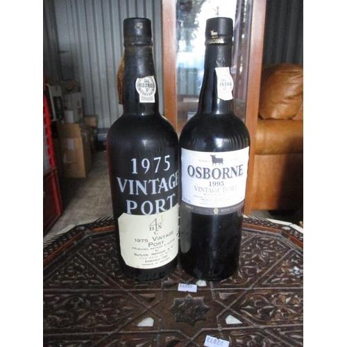 136 - A bottle of Butler & Nephew shipped 1975 and a bottle of Butler of Osborne 1995 vintage Port...