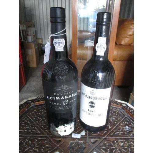 137 - A bottle of Warres 1980 vintage port and a bottle of Fonseca 1984 vintage port...