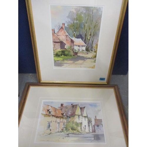 2 - Alan Simpson - Two pen and washes, one entitled Summer Sunlight, Stoke by Nayland, 9