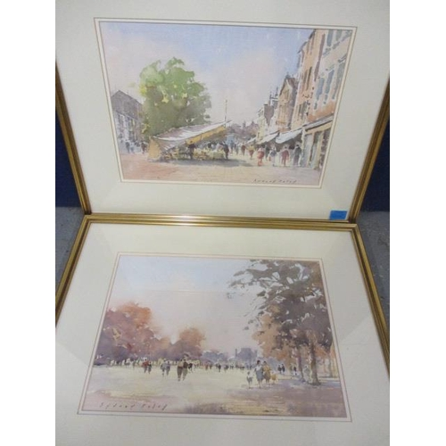 3 - Sydney Foley - two watercolours entitled Tuileries Gardens, Paris and the other entitled White Awnin...