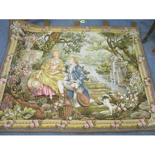 22 - A reproduction French wall tapestry...
