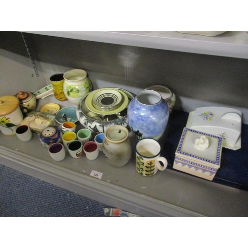 43 - A mixed lot to include a Poole pottery butter dish, a boxed Coalport plate and other items...