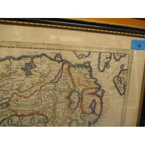 18 - Possibly Gerardus Mercater Dutch 1512-1594, Miliana Irlandica Com The Northern Part of Ireland...