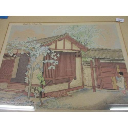 16 - Marguerite Gifford - a Japanese coloured print entitled Doshisa Tokiwai Mo, 12
