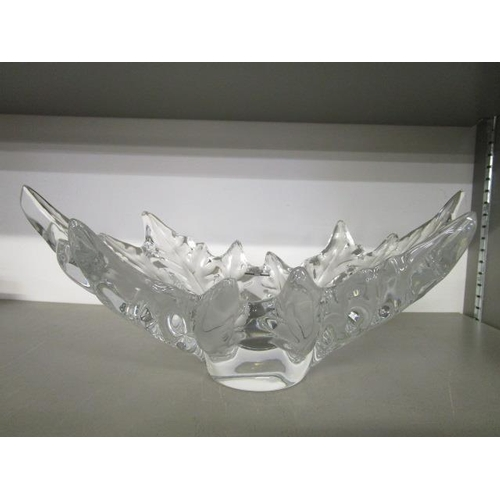 18 - Marc Lalique for Lalique glass - a Champs Elyse's crystal bowl designed c1951 in frosted and clear g...