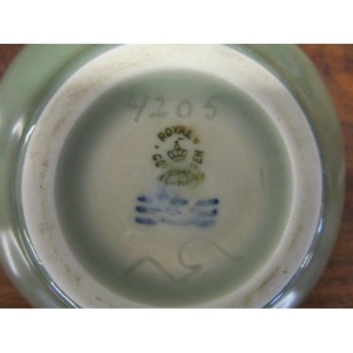 31 - Nils Thorson for Royal Copenhagen, a Celadon glazed bowl with a single fish depicted to the interior...