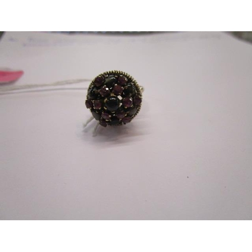 16 - A 14ct gold multi stone ring of cone form, total weight, 5.07g...