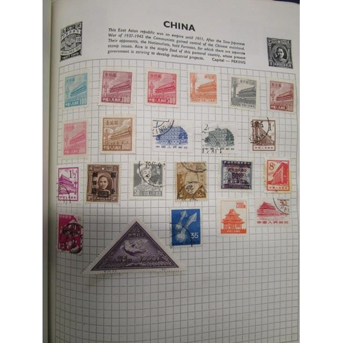 21 - A Stanley Gibbons Swiftsure stamp album containing stamps from China, Hong Kong and various other co...