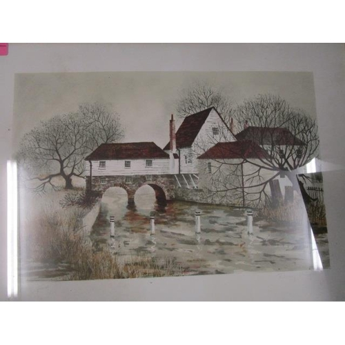 33 - Jeremy King b 1933 Bray Mill House, a signed artist proof print, signed in pencil to lower margin, 1...