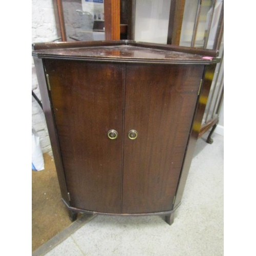 38 - An early 20th century walnut display cabinet on cabriole legs and ball and claw feet, along with a m...