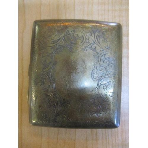 51 - A Victorian silver engraved cigarette case...