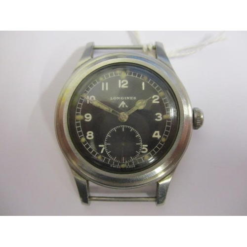 1 - A Longines Greenlander military issue 'Dirty Dozen' gents, manual wind, stainless steel wristwatch, ...