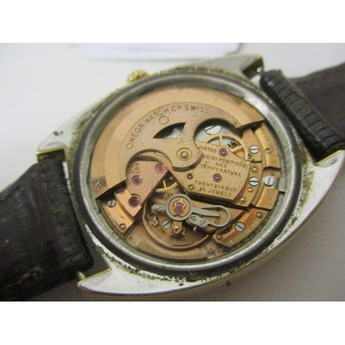 18 - An Omega Constellation Chronometer gents, automatic, gold plated 1960s wristwatch. The dial having d...