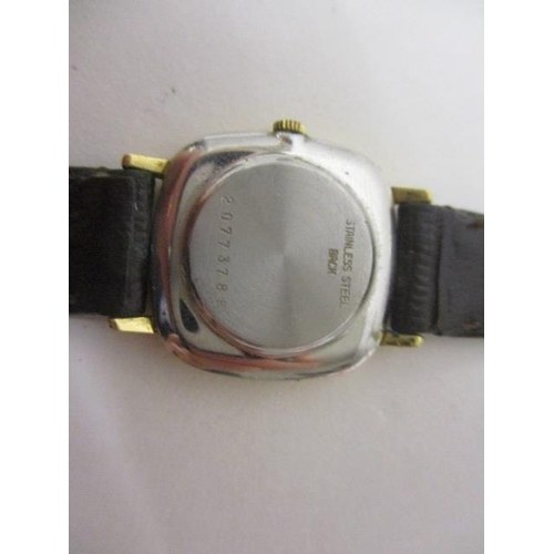 27 - LOT WITHDRAWN - A Longines ladies quartz, gold plated 1980s wristwatch. The gilt dial having baton m...