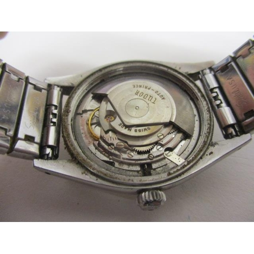 36 - A Tudor Prince Oyster date gents automatic, stainless steel 1950s wristwatch. The silvered dial havi...