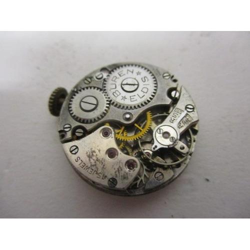45 - A Buren Eldis ladies, manual wind, 9ct gold early 20th century wristwatch. The white enamel dial hav...