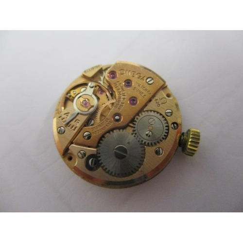 5 - An Omega ladies, manual wind, 9ct gold, 1970s wristwatch. The 17 jewel movement signed 620, 34445138...