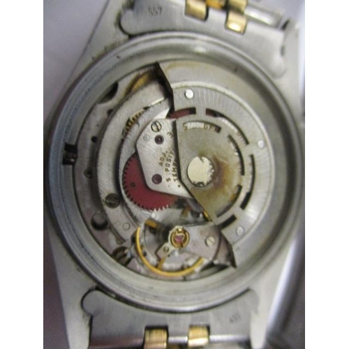 8 - A Rolex Oyster Perpetual Datejust gents automatic, gold and stainless steel 1980s wristwatch. The gi...