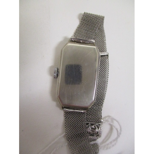 7 - A Tavannes ladies, manual wind, 9ct white gold, Art Deco cocktail watch. The dial having Arabic nume...