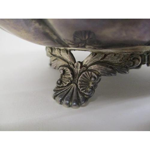 13 - A near three piece George IV Irish silver tea set by Smith & Gamble, Dublin 1830, of lobed form with...