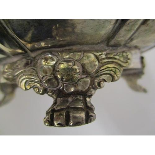 14 - A near pair of George IV Irish silver sugar bowls by Edward Power, Dublin 1825 of lobed form with fl...