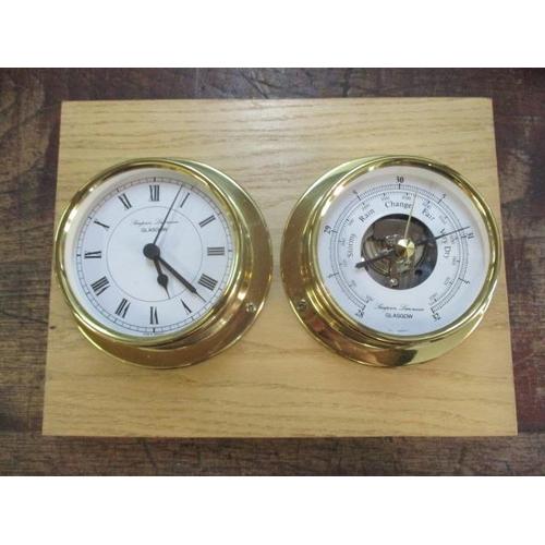 22 - A modern boat clock/barometer...