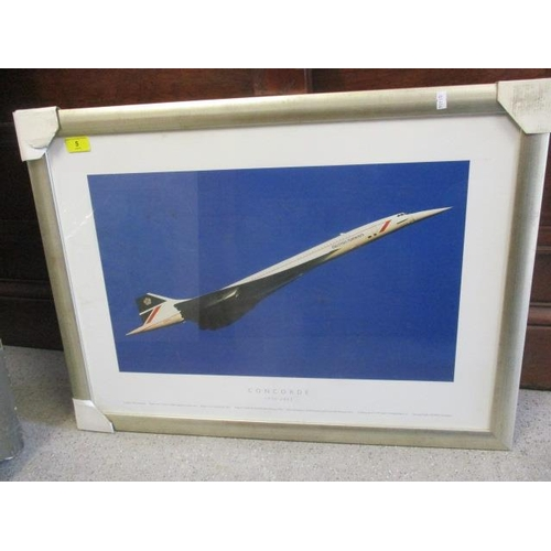 5 - A framed and glazed Concorde poster 1976-2003...