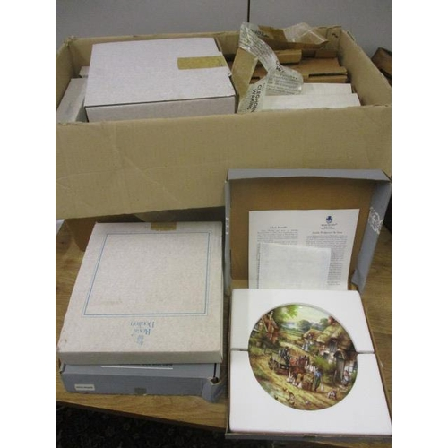 8 - Mixed boxed collectors plates to include Bradford Exchange, Royal Doulton and Wedgwood...