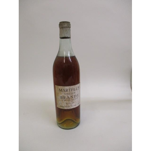3 - A bottle of Martell's Vintage Brandy 1904-1906, bottled in 1941...