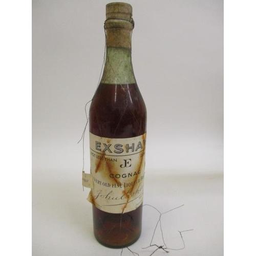 4 - A bottle of John Exshaw Cognac A/F...