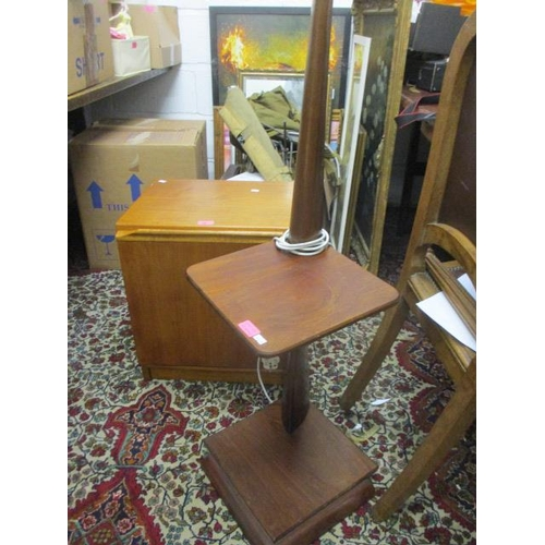 15 - A mid 20th century G-Plan unit together with a standard lamp...