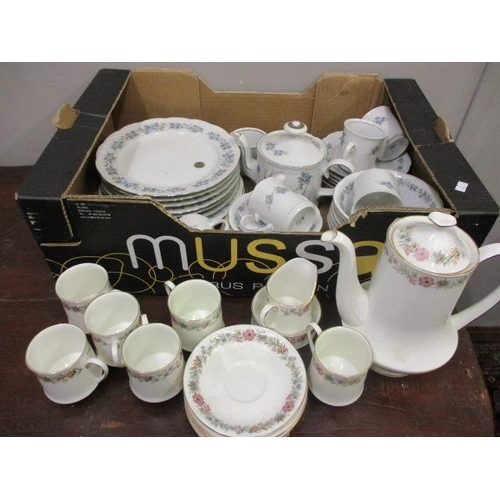 27 - A Paragon Belinda pattern coffee service, together with a German tea service...