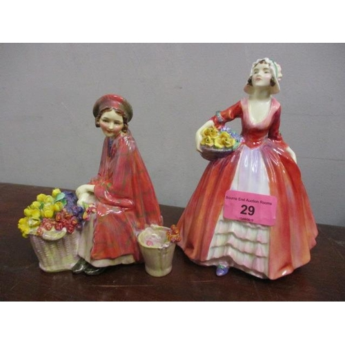 29 - Two Royal Doulton figures to include Janet HN1507 and Bonnie Lassie HN1626...
