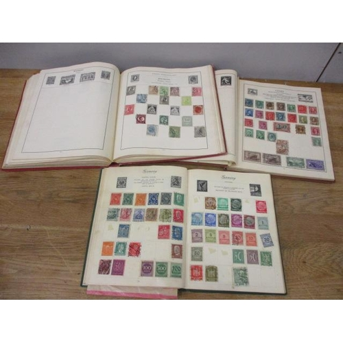 37 - Three stamp albums containing mixed stamps from around the world...