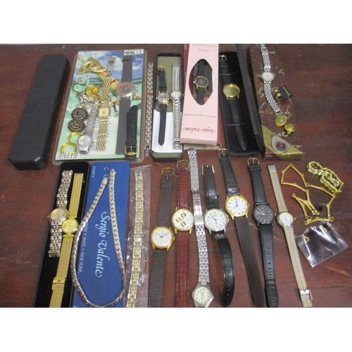 4 - Mixed costume jewellery and modern watches...